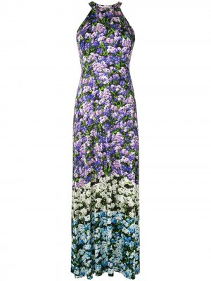 Платье с цветочным принтом Mary Katrantzou. Цвет: фиолетовый