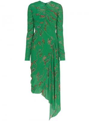 Платье с цветочным принтом Teresa Preen By Thornton Bregazzi. Цвет: зеленый