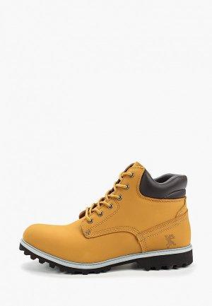 Ботинки Ascot. Цвет: желтый
