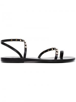 Сандалии Apli Eleftheria с жемчугом Ancient Greek Sandals. Цвет: черный