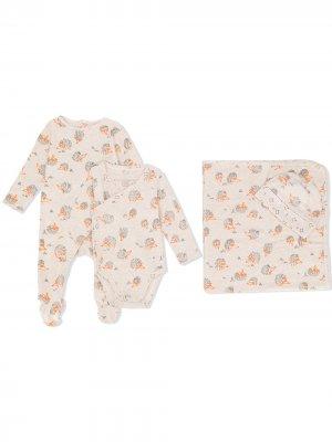 Комплект для новорожденного с принтом Stella McCartney Kids. Цвет: коричневый