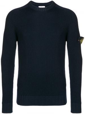 Ribbed sweater Stone Island. Цвет: синий