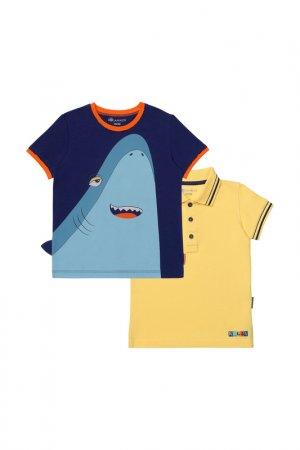 Комплект: футболка, рубашка Kogankids. Цвет: желтый