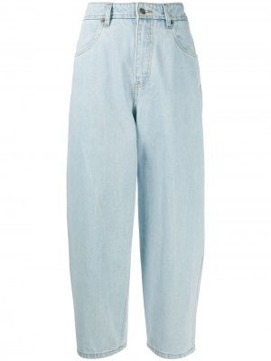 Зауженные джинсы с завышенной талией Société Anonyme. Цвет: синий