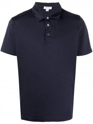 Базовая рубашка поло Sunspel. Цвет: синий