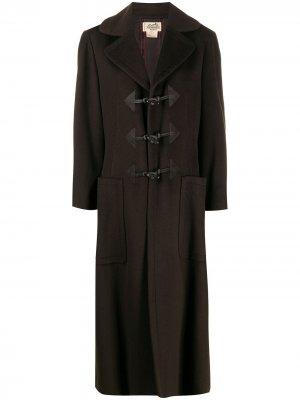 Длинный дафлкот 2000-х годов Hermès. Цвет: коричневый