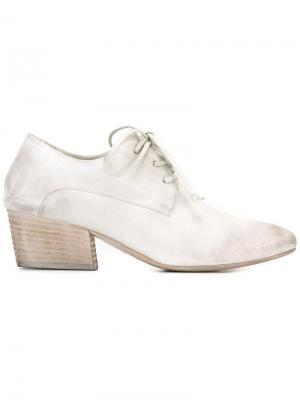 Туфли Bianco на шнуровке с миндалевидным носком Marsèll. Цвет: белый
