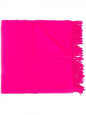 Объемный шарф с бахромой A.P.C.. Цвет: розовый