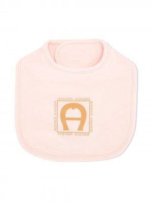 Нагрудник с логотипом Aigner Kids. Цвет: розовый