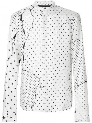 Рубашка с узором в горох Haider Ackermann. Цвет: белый