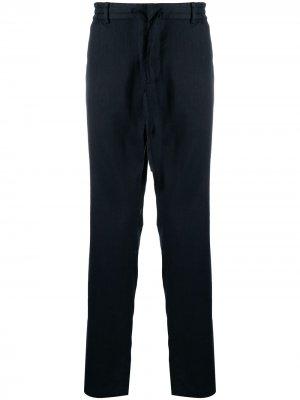Прямые брюки средней посадки Vince. Цвет: синий
