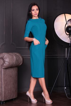 Платье Laura Bettini. Цвет: темно-бирюзовый