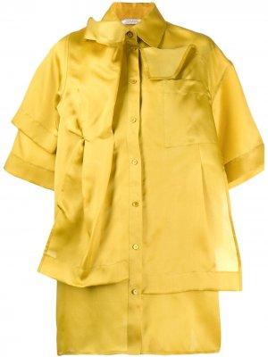 Деконструированная рубашка Nina Ricci. Цвет: желтый