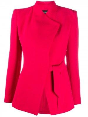 Пиджак строгого кроя с завязками Emporio Armani. Цвет: красный