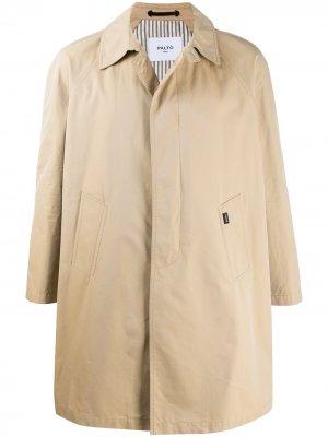 Однобортное пальто Paltò. Цвет: нейтральные цвета