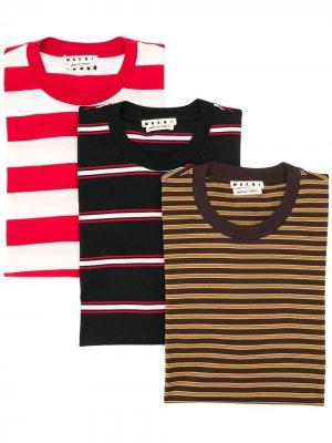 Комплект из трех футболок Marni. Цвет: нейтральные цвета