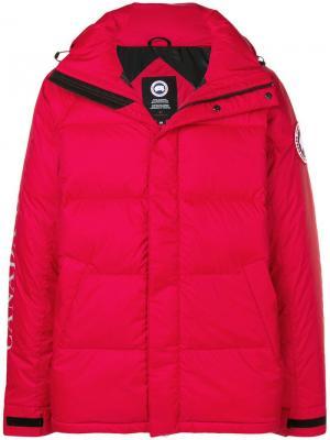 Дутая куртка оверсайз Canada Goose. Цвет: красный