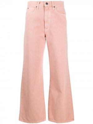 Широкие джинсы Grace с завышенной талией Slvrlake. Цвет: розовый