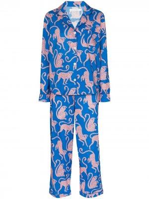 Пижама Chango с принтом Desmond & Dempsey. Цвет: синий