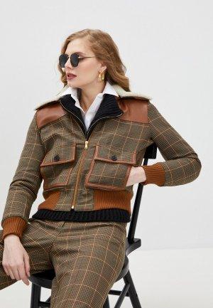 Куртка утепленная Paul & Joe. Цвет: коричневый