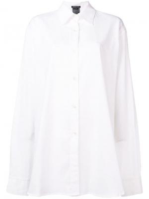 Рубашка кроя оверсайз Ann Demeulemeester. Цвет: белый