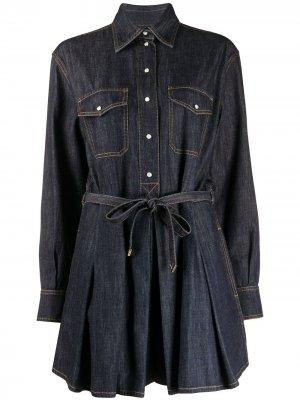 Джинсовое платье мини Valentino. Цвет: синий