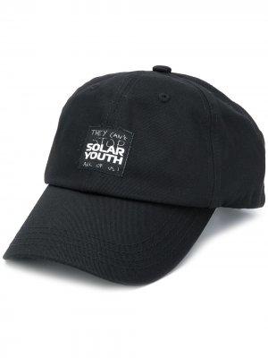 Бейсболка Solar Youth Raf Simons. Цвет: черный