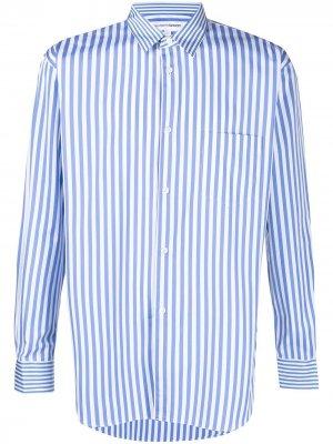 Полосатая рубашка с длинными рукавами Comme Des Garçons Shirt. Цвет: синий
