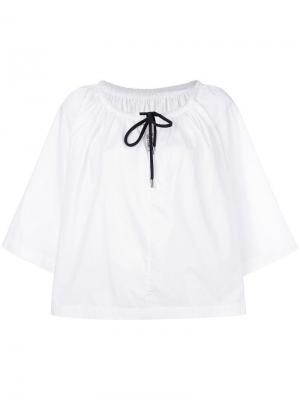 Расклешенная блузка с завязками на груди Antonio Marras. Цвет: белый