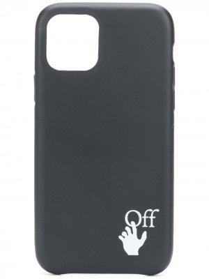 Чехол для iPhone 11 Pro с логотипом Off-White. Цвет: черный