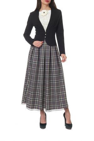 Комплект с юбкой MANNON. Цвет: черно-серый
