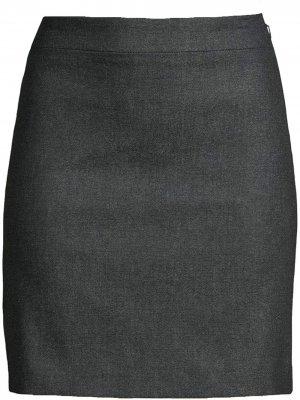 Джинсовая юбка мини Nicole Miller. Цвет: синий