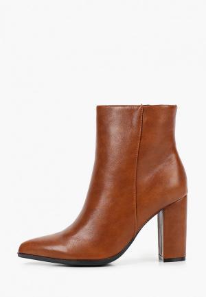 Ботильоны Ideal Shoes. Цвет: коричневый