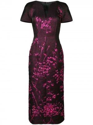 Metallic twig detail dress Talbot Runhof. Цвет: розовый