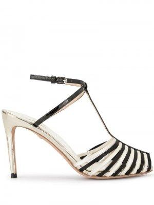 Босоножки контрастного дизайна с открытым носком Giambattista Valli. Цвет: белый