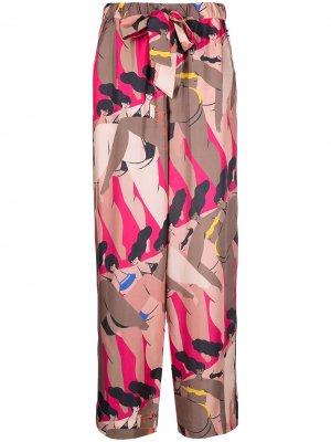 Пижамные брюки с принтом I Love My Body AZ FACTORY. Цвет: розовый