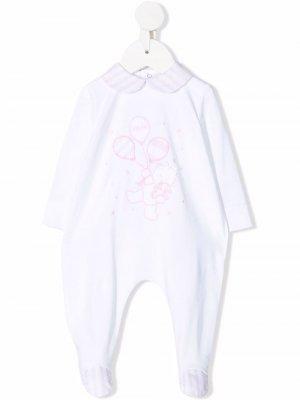 Пижама с вышивкой Le Bebé Enfant. Цвет: белый