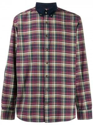 Рубашка в клетку Hackett. Цвет: красный