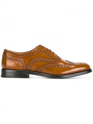 Ботинки-броги Church's. Цвет: коричневый