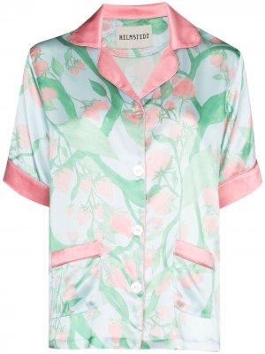 Пижамная рубашка с принтом Helmstedt. Цвет: синий