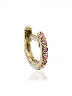 Серьга-кольцо из розового золота с сапфирами Ileana Makri. Цвет: золотистый