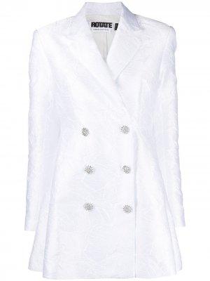 Fonda blazer dress ROTATE. Цвет: белый