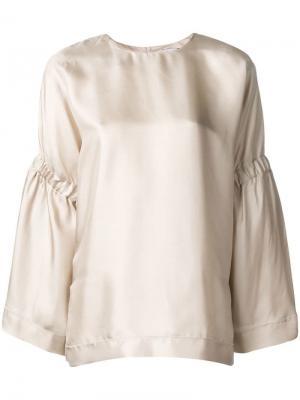 Блузка свободного кроя Alysi. Цвет: нейтральные цвета