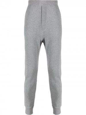 Зауженные спортивные брюки Dsquared2 Underwear. Цвет: серый