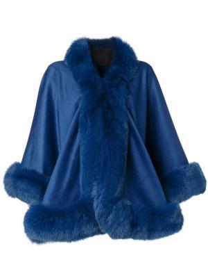 Cashmere flared coat Liska. Цвет: синий