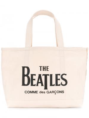 Сумка-тоут  Beatles X Comme des Garçons The. Цвет: телесный