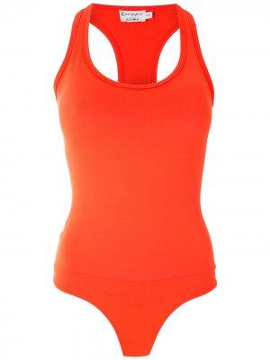 Боди в спортивном стиле Amir Slama. Цвет: оранжевый
