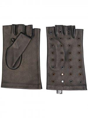 Перчатки с люверсами Karl Lagerfeld. Цвет: черный