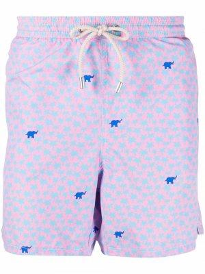 Плавки-шорты с принтом Mc2 Saint Barth. Цвет: фиолетовый