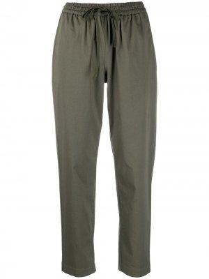 Укороченные брюки с завышенной талией Semicouture. Цвет: зеленый
